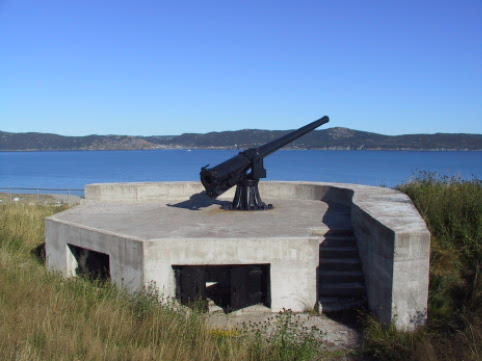 These Guns were fired at enemy submarines after a WWII attack