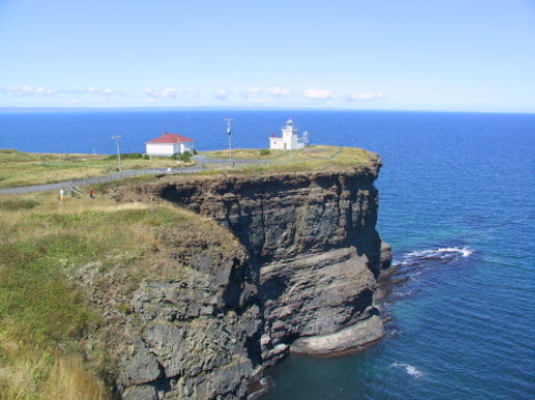 Natural walking trails pass by this cliff top lighthouse